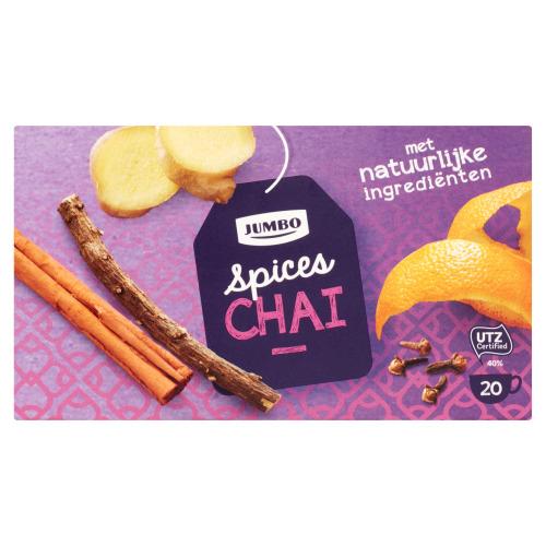 Jumbo Spices Chai 20 Theezakjes 40 g (40g)