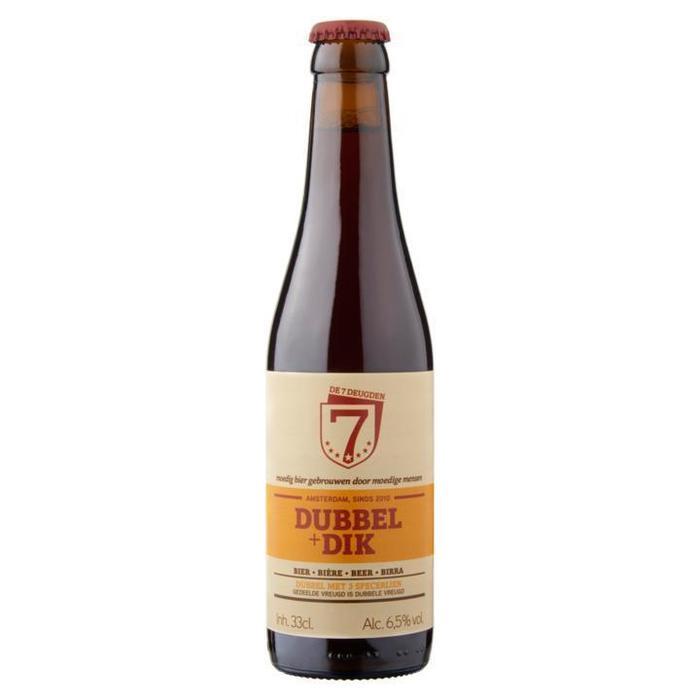 De 7 Deugden Dubbel + Dik Bier Fles 33cl (33cl)