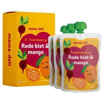 Mama deli Tussendoortje rode biet & mango 4+ mnd (3 × 70g)