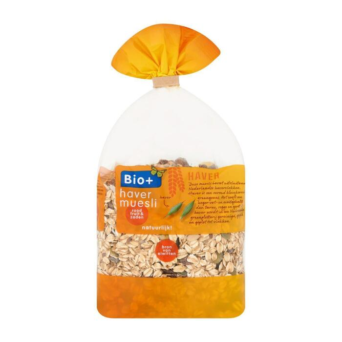 Havermuesli met roodfruit en zaden (500g)
