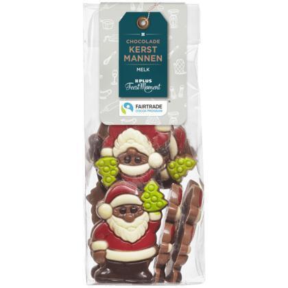 PLUS Feestmoment Chocolade kerstmannen melk (FCTP) (150g)