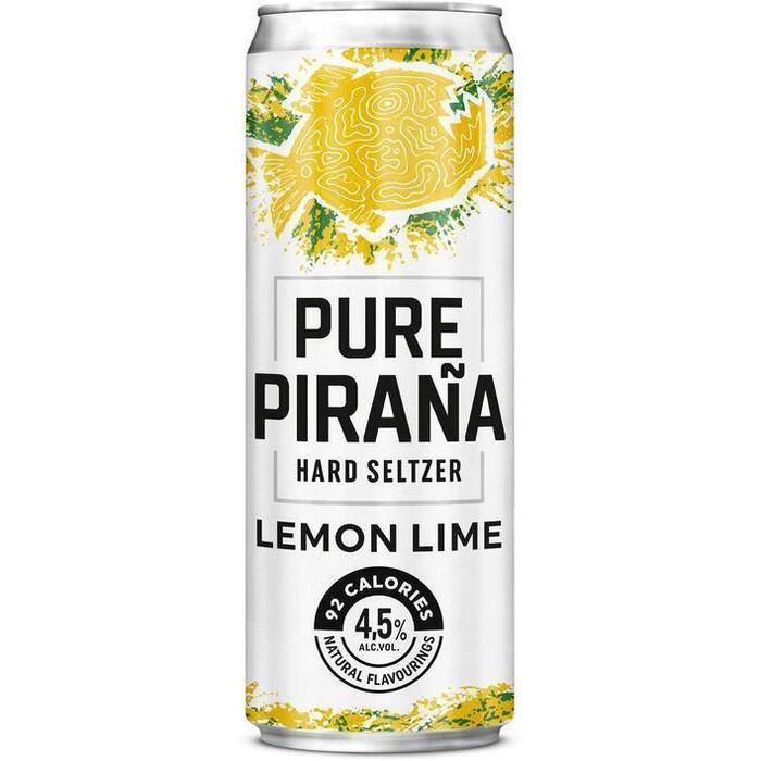 Pure Piraña Lemon lime seltzer (33cl)