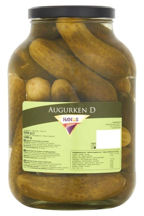 Hanos Selektie Augurken D 2450 g (2.45kg)
