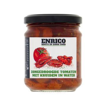 Enrico® Zongedroogde Tomaten met Kruiden in Water 210 g (210g)