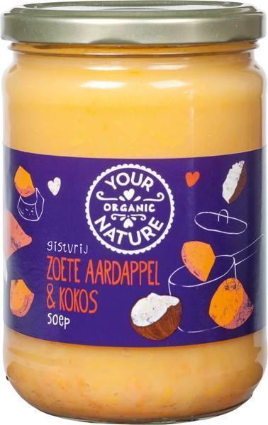 Zoete aardappel & kokos soep (0.5L)