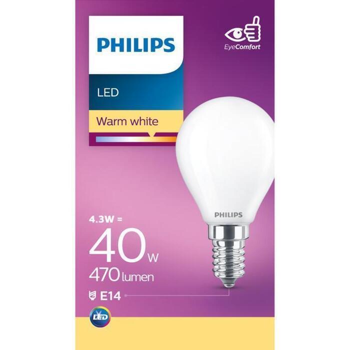 Philips Mat kogel E14 40W