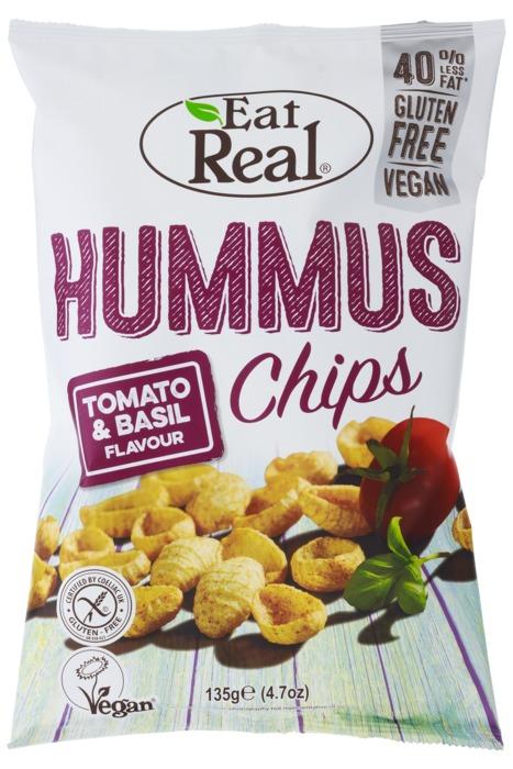 Eat Real Humus tomato & basil sharing bag (135g)