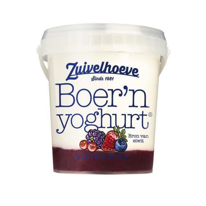 Boer'n yoghurt bosvruchten (Stuk, 800g)