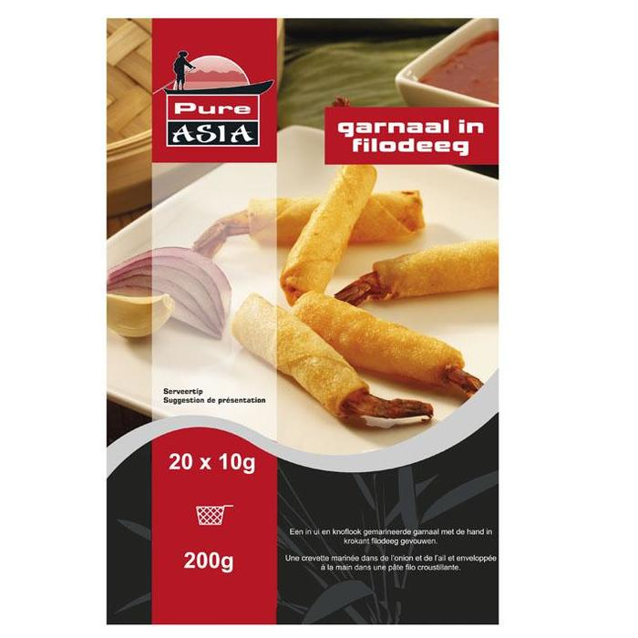 Pure Asia Pure Asia Garnaal in Filodeeg 20x10 gr. (20 × 200g)