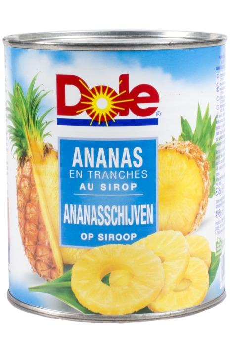 Ananasschijven op Siroop (blik, 836g)