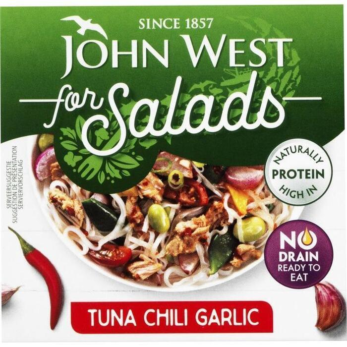 John West Tuna for salads chili & garlic (110g)