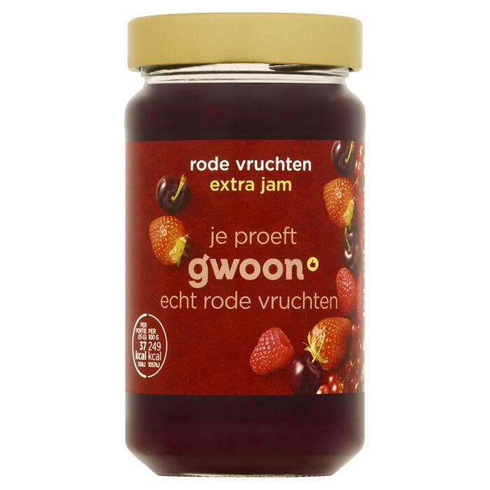 g'woon Rode Vruchten Extra Jam 400 g (Stuk, 400g)