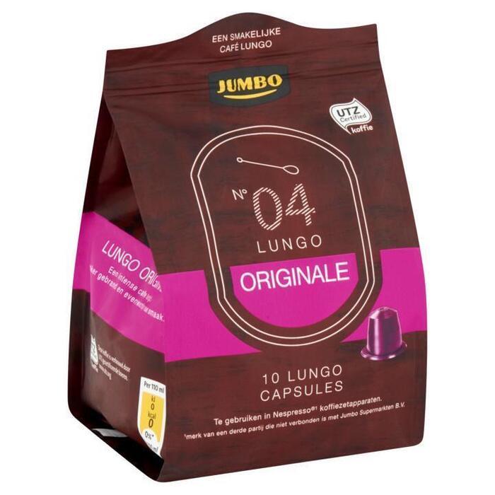 Jumbo N° 04 Lungo Originale 10 Espresso Capsules 53g (52g)