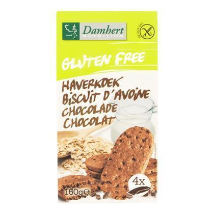 Damhert Nutrition Gluten Vrij Haverkoek Chocolade 160 g (160g)