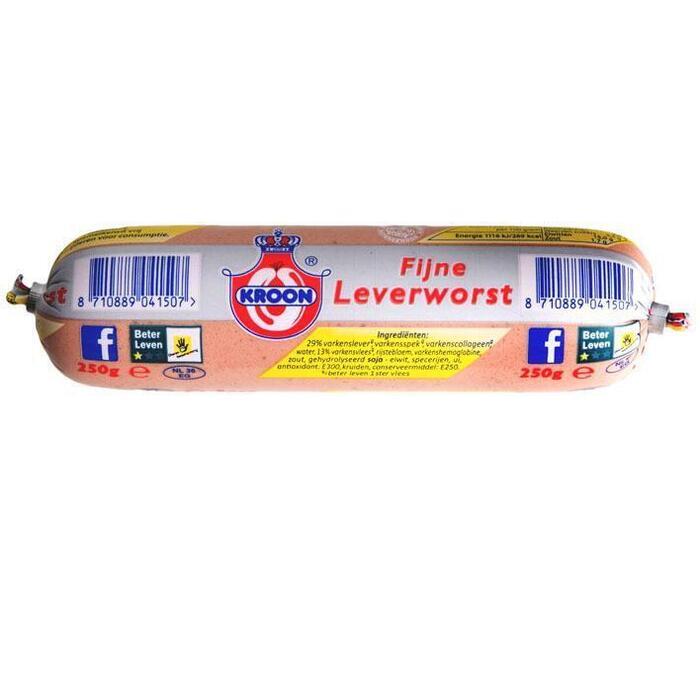 Fijne leverworst (Stuk, 250g)