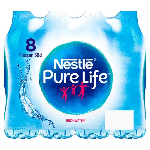 Nestlé Pure Life - Kleine Fles - 8 x 50 cl (0.5L)