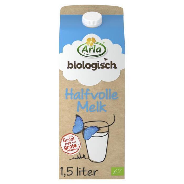 Biologische Halfvolle Melk (pak, 1.5L)