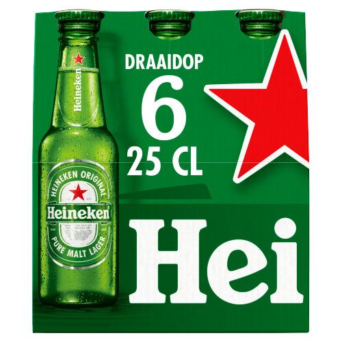 Heineken draaidop flessen (rol, 6 × 30cl)