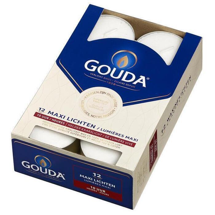 Gouda Maxi lichten helder kaarslicht 10 uur