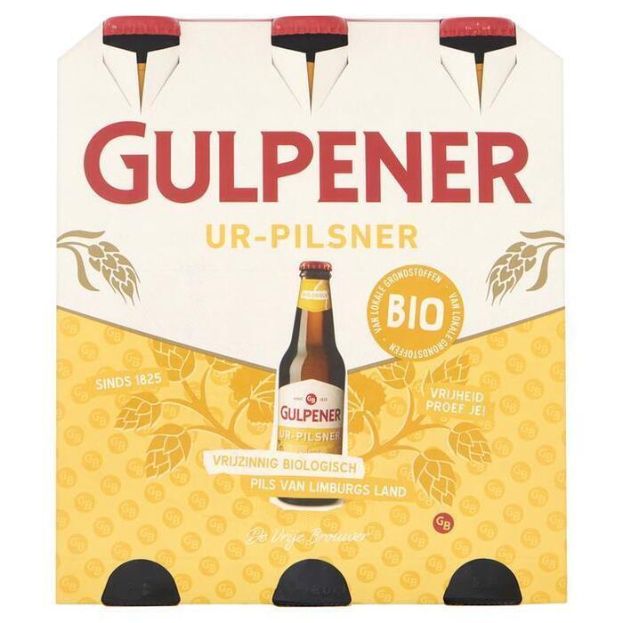 Gulpener Biologisch UR Pilsener (rol, 6 × 33cl)