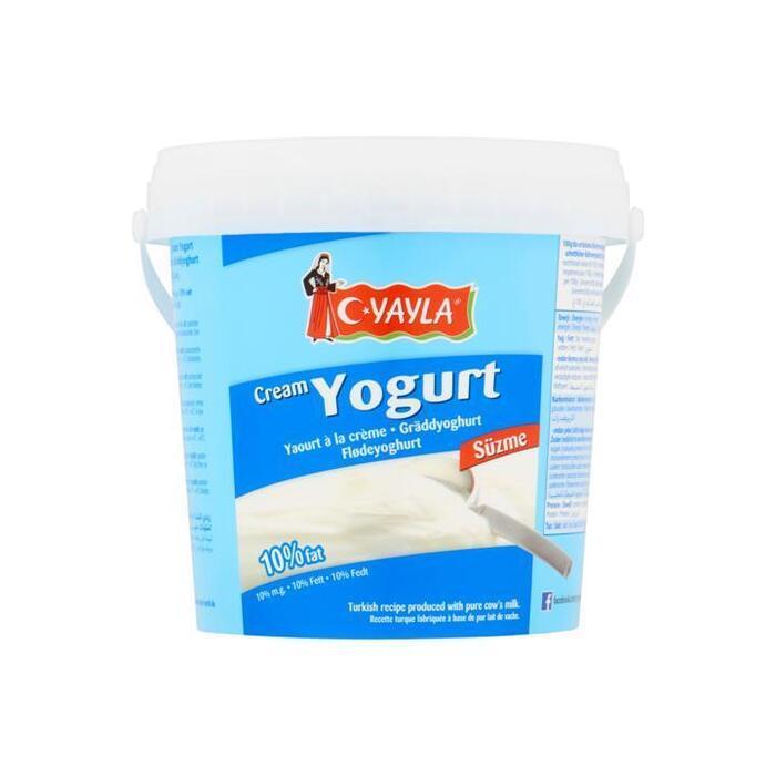 Yayla Roomyoghurt 10% Vet 1000g (Stuk, 1kg)