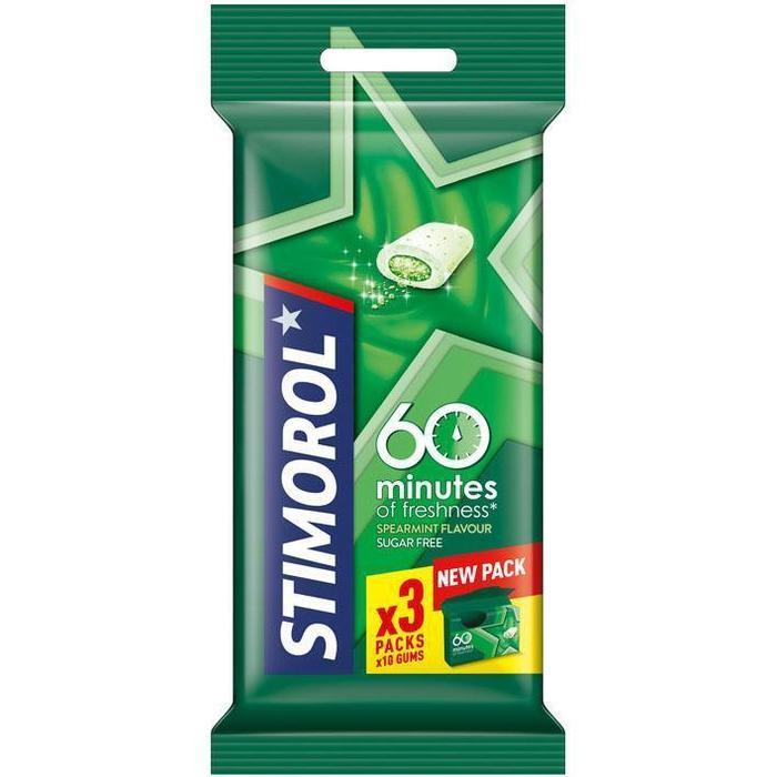 Stimorol Kauwgom 60 minutes spearmint (3 × 20g)
