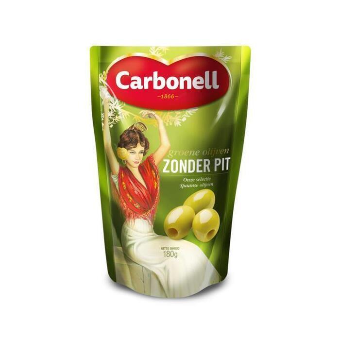 Carbonell Groene olijven zonder pit (180g)