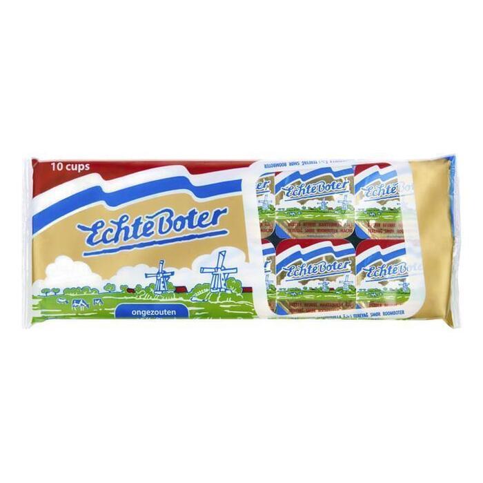 Echte Boter Cupjesverpakking ongezouten (10 × 10g)