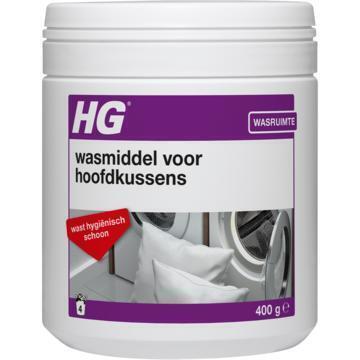 HG Textiel Wasmiddel voor Hoofdkussens 400 g 4 Wasbeurten (400g)