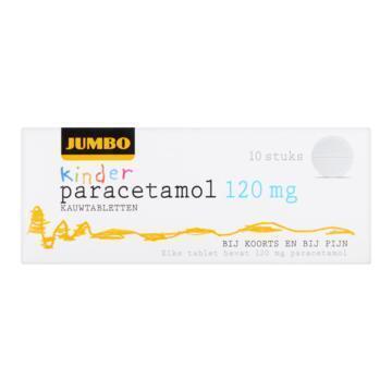 Jumbo Kinder Paracetamol Kauwtabletten 120 mg 10 Stuks