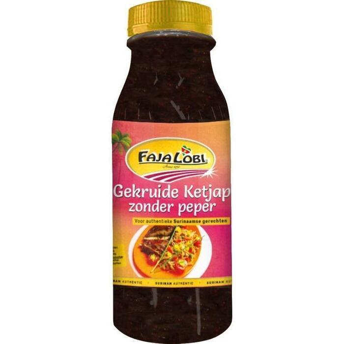 Faja Lobi Gekruide ketjap zonder peper (30cl)