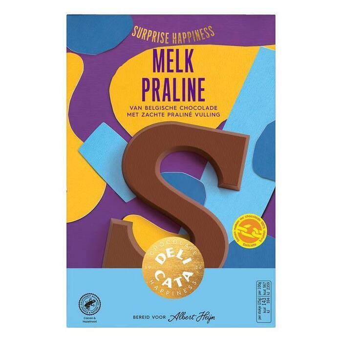 Delicata Chocoladeletter melk praline (150g)