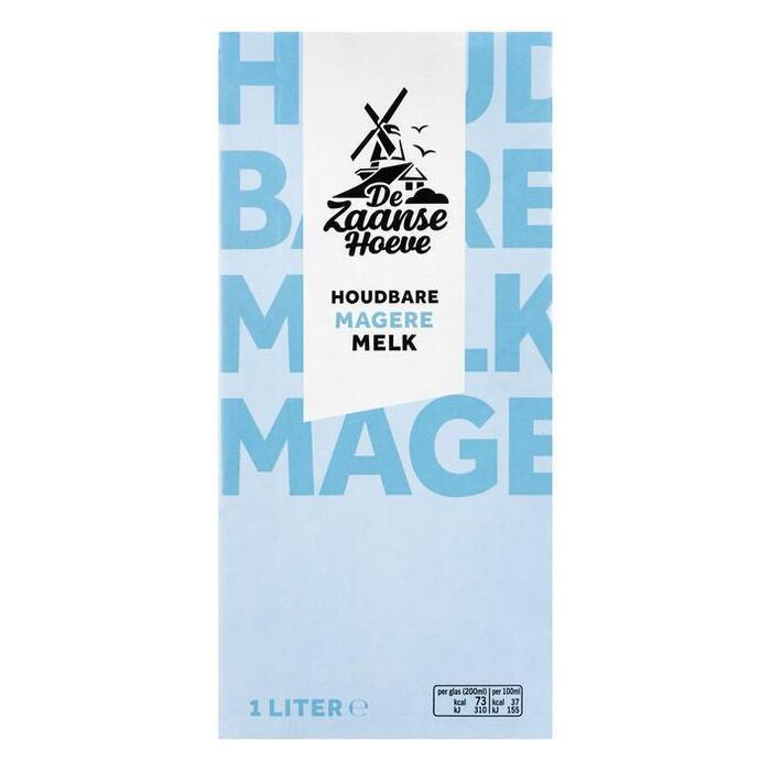 De Zaanse Hoeve Magere melk houdbaar (1L)