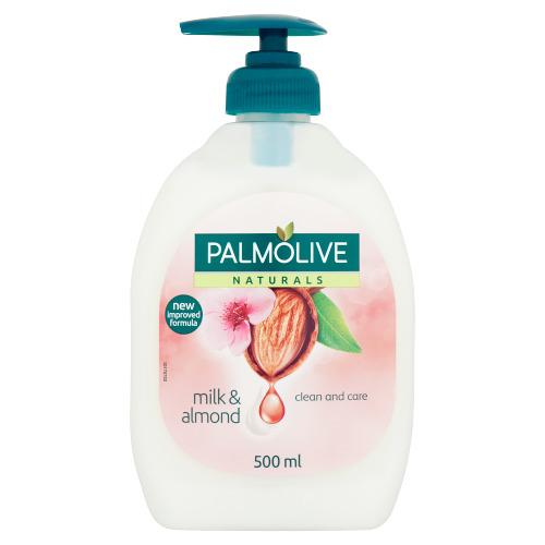 Naturals vloeibare zeep amandel pomp (0.5L)