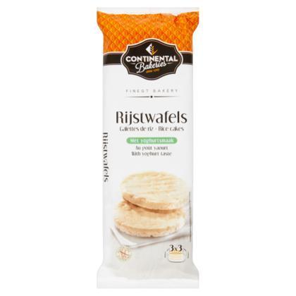 Continental Bakeries Rijstwafels met Yoghurtsmaak 3 x 3 Stuks 150 g (Stuk, 150g)
