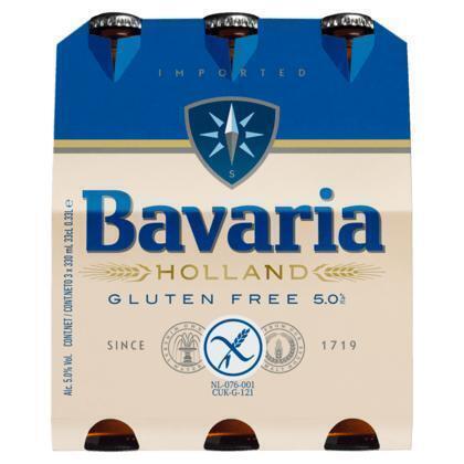 Bavaria Premium glutenvrij pilsener 5.0% Bier (rol, 99 × 0.99L)