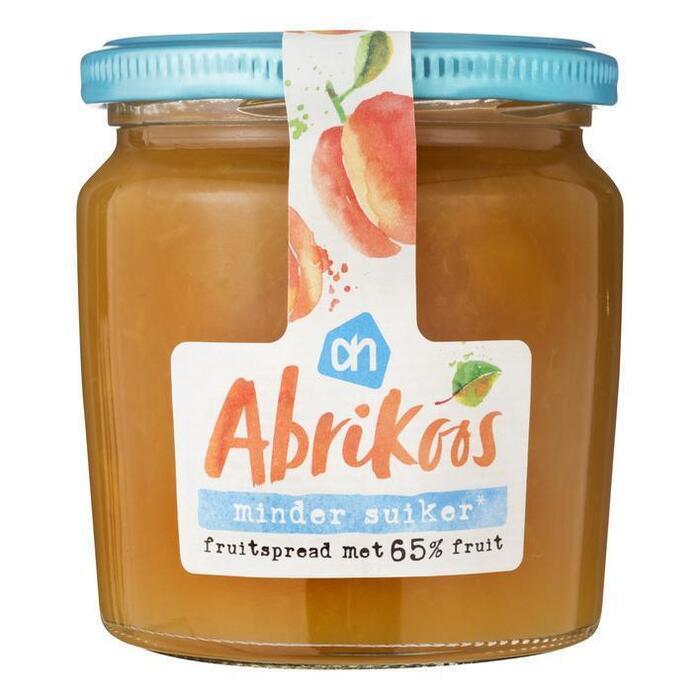 AH Abrikoos fruitspread minder suiker (320g)