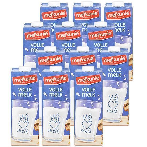 Melkunie volle houdbare melk 12 x 1 liter (10 × 1L)