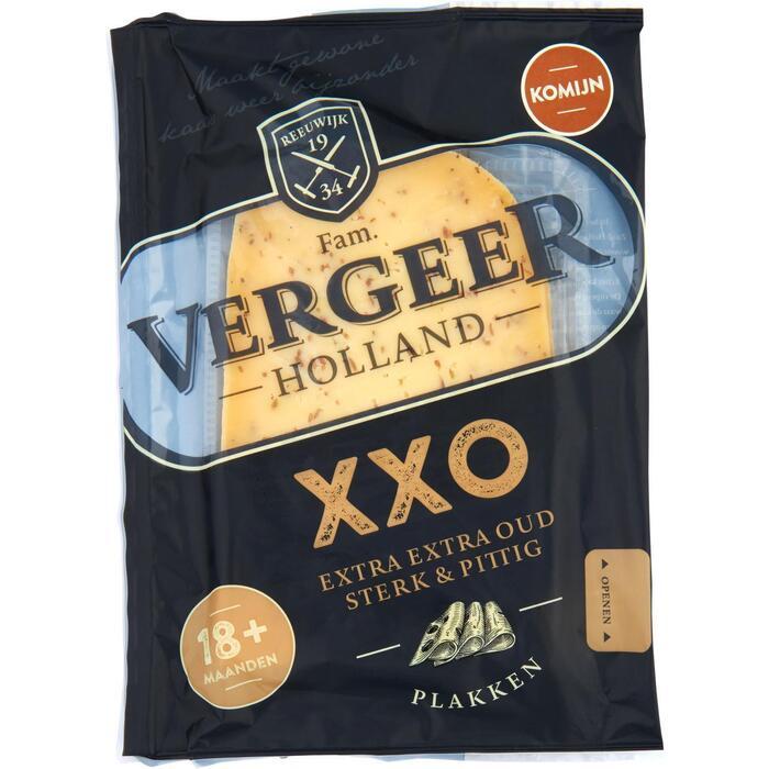 Vergeer Holland Kaas 48+ Plakken Gouda Extra oud Komijn 150g (150g)