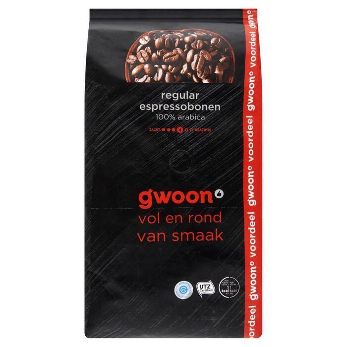 g'woon Espressobonen regular voordeelverpakking (1kg)