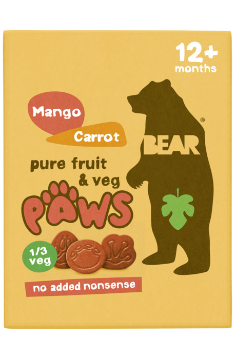 Bear Paws mango & carrot 5p (100g)