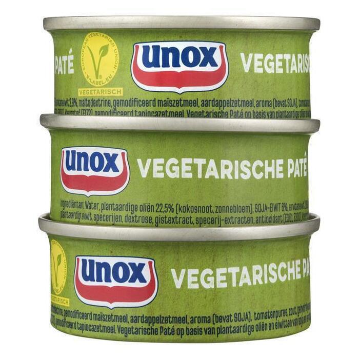 Unox Vegetarische paté (can, 3 × 168g)