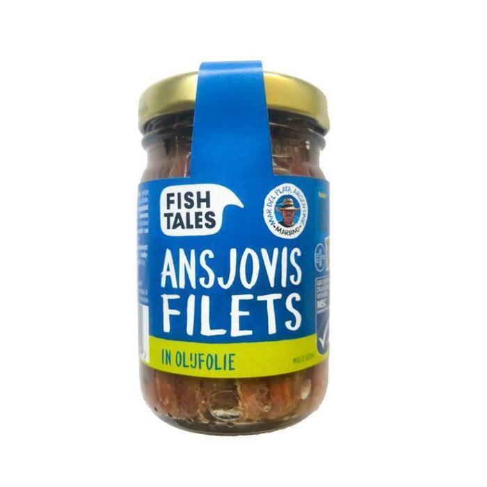 Fish Tales Ansjovisfilet in glas (100g)