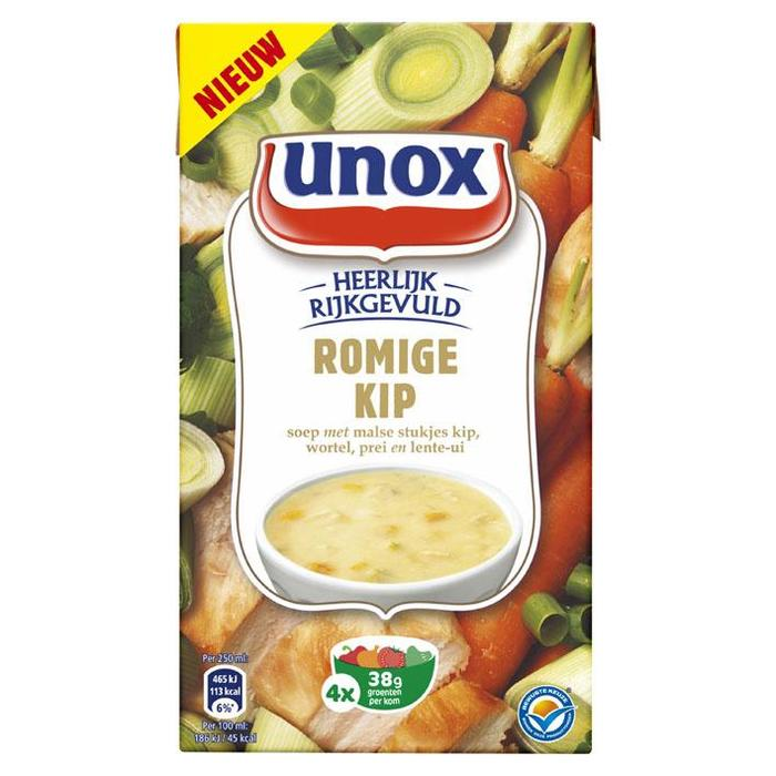 Unox Soep in Pak Romige Kip 1L 6x (1L)
