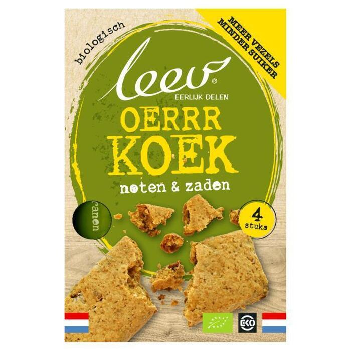 Leev Bio oerrr koek noten & zaden (4 × 35g)