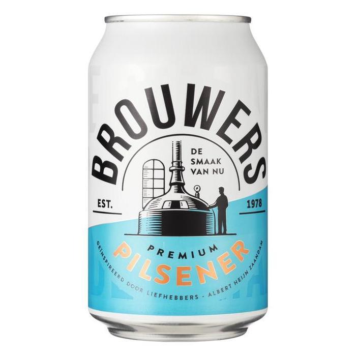 Brouwers premium pilsner (blik, 33cl)