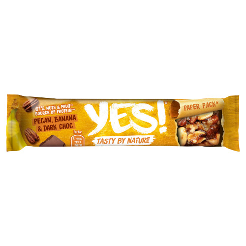 Yes! Delicious Dark Choc, Banana & Pecan Fruit & Nut Bar 35 g (35g)