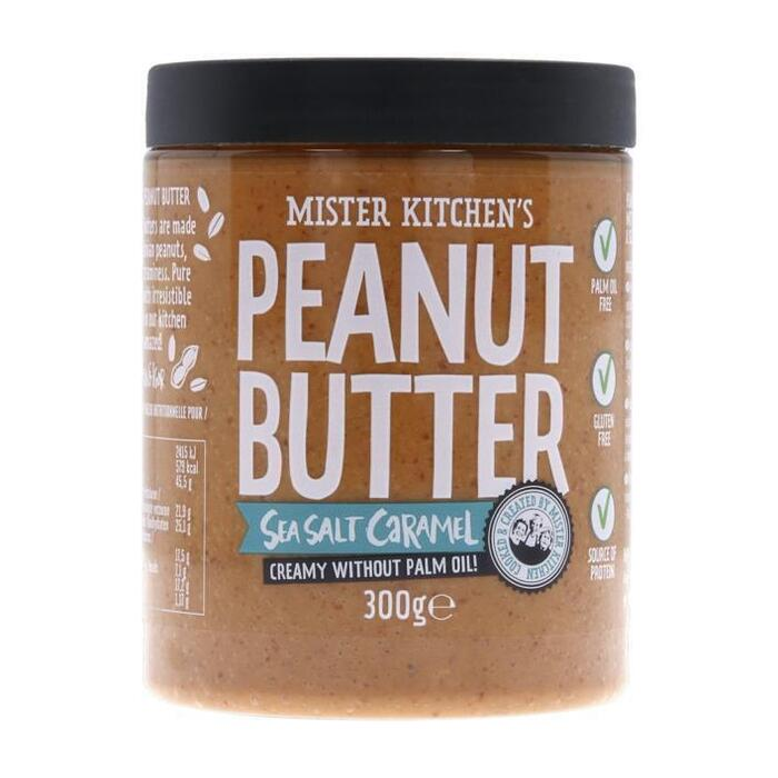 Mister Kitchen's Pindakaas zeezout-karamel (300g)