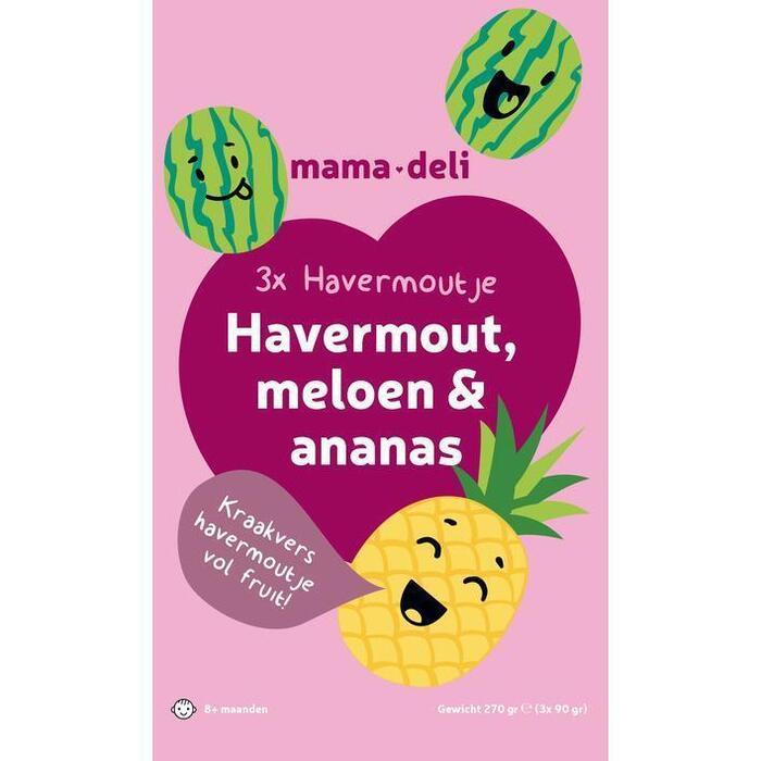 Mama deli Havermoutje meloen & ananas 8+ mnd (270g)