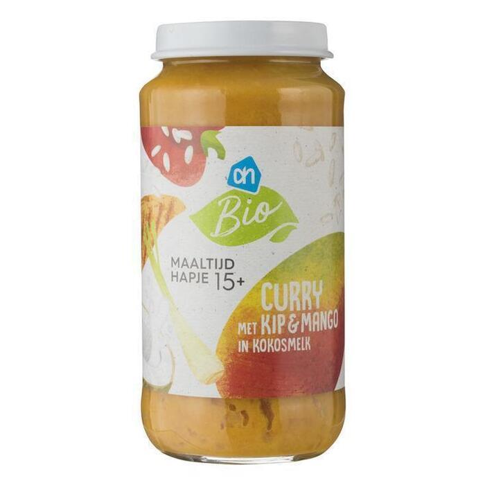 AH Biologisch Curry met kip en mango in kokos 15m02 (250g)